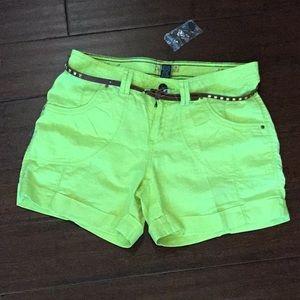 Brand New Linen Blend Shorts